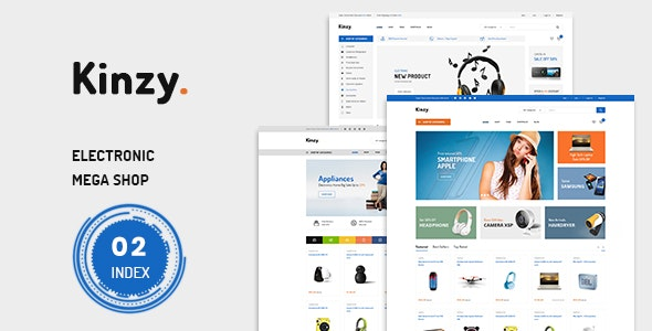 Kinzy - Electronics Store Prestashop Theme 1.7.7.x - Shopping PrestaShop