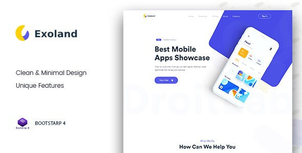 Exoland || Bootstrap4 App Landing Page - Software Technology