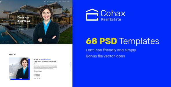 Cohax - Real Estate PSD Template - Business Corporate