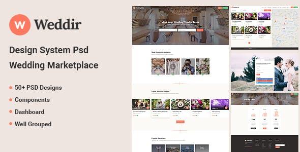 Weddir - Design System Psd for Wedding Marketplace