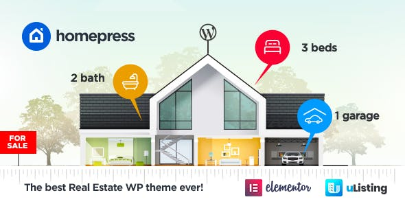 Marketplace Real Estate WordPress Themes from ThemeForest
