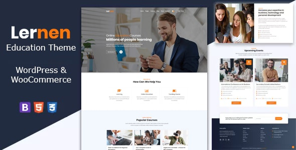 Lernen - Education Courses WordPress Theme - Business Corporate
