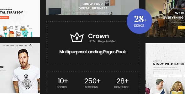 Crown | Multi-Purpose Html5 Landing Template - Business Corporate