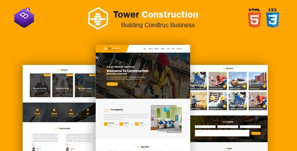 Towercon - Construction for Architect Template - Business Corporate