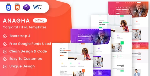 Anagha - Business and Corporate HTML Templates - Business Corporate