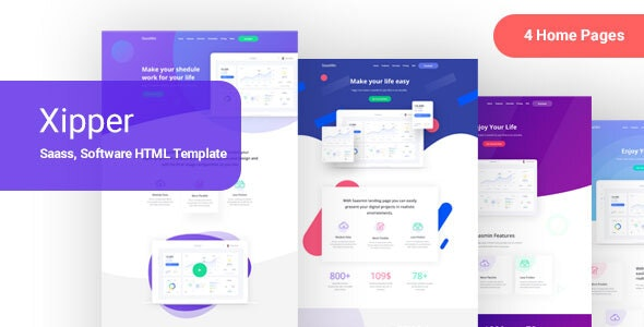 Xipper – HTML Landing Page Template for App & Saas Products by pixelcurve