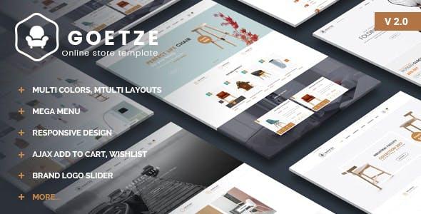 Goetze - Furniture Shop eCommerce HTML Template