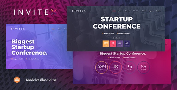 Invitex - Event and Conference Website Template by designesia