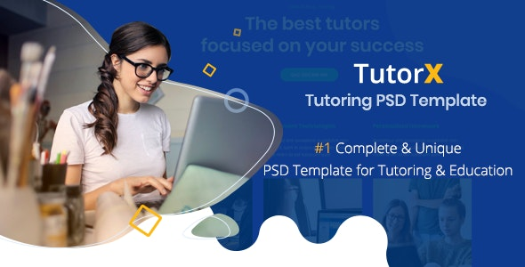 TutorX | Tutoring PSD Template - Business Corporate