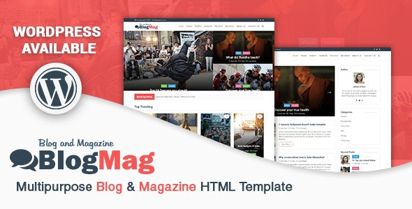 BlogMag - Multipurpose Blog & Magazine HTML Template - Entertainment Site Templates