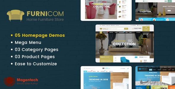 Furnicom - Responsive Furniture & Interior HTML Template - Retail Site Templates