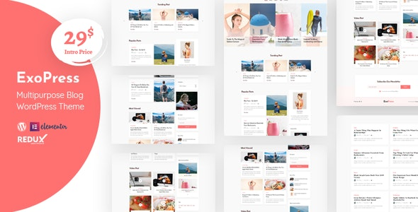 Exopress | Multipurpose Personal Blog WordPress Theme - Personal Blog / Magazine
