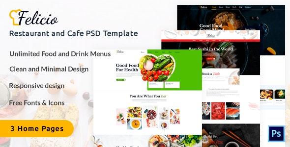 Felicio - Restaurant and Cafe PSD Template by Buzline | ThemeForest