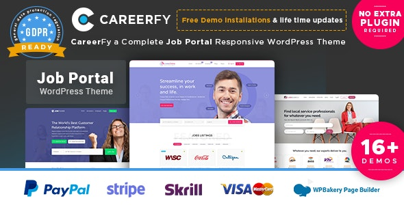 Careerfy - Job Board WordPress Theme by eyecix | ThemeForest