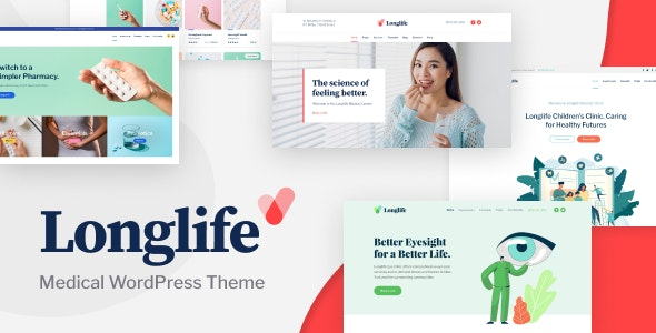 LongLife - Medical WordPress Theme - Health & Beauty Retail