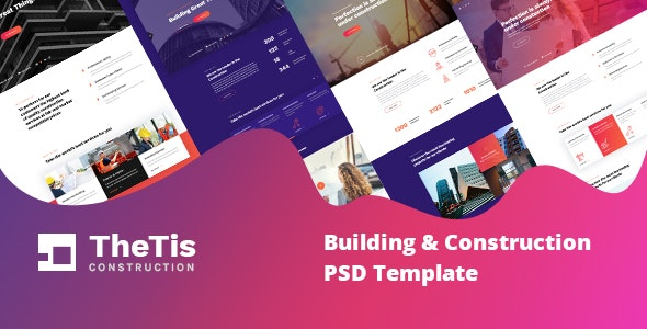 Thetis - Construction PSD Template - Photoshop UI Templates