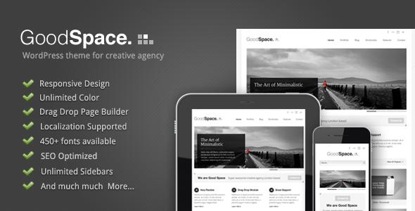 Good Space - Responsive Minimal WP Theme - Blog / Magazine WordPress