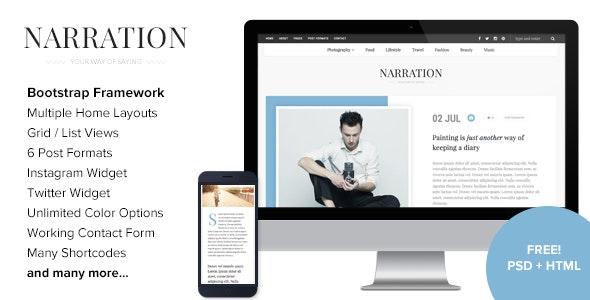 Narration - A Responsive WordPress Blog Theme - Personal Blog / Magazine