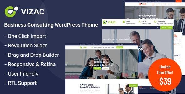 Vizac - Consulting Business WordPress Theme - Business Corporate