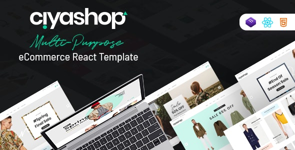 CiyaShop - Responsive Multi-Purpose eCommerce React Template - Retail Site Templates