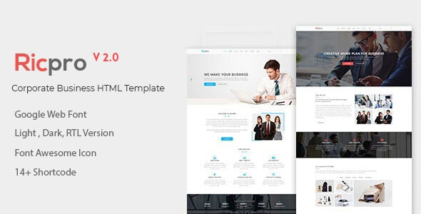 Ricpro – Corporate Business HTML Template - Business Corporate