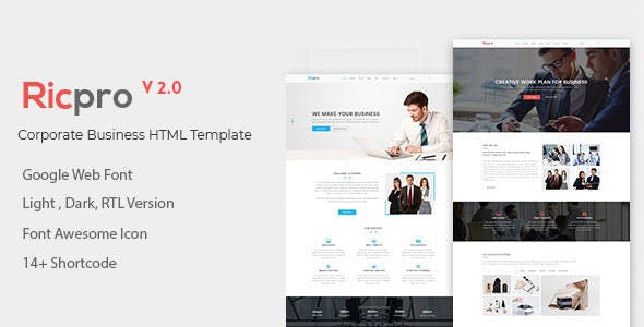 Ricpro – Corporate Business HTML Template