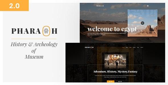 Pharaoh - Museum & Exhibition HTML Template - Nonprofit Site Templates