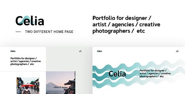 Celia - Creative Multipage Responsive Website - Creative Site Templates