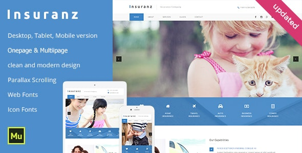 Insurance Services Adobe Muse Template - Corporate Muse Templates