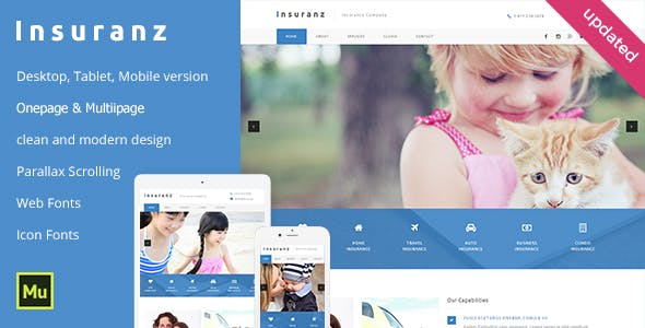 Insurance Services Adobe Muse Template