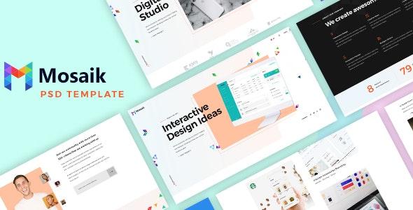 Mosaik - Agency Portfolio PSD Template - Portfolio Creative
