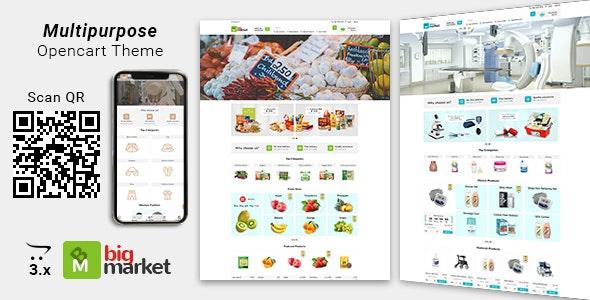 Bigmarket - Multipurpose Responsive  Grocery | Drugs | Fashion Opencart 3.X Theme - Health & Beauty OpenCart