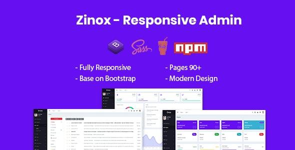 Zinox Responsive Admin Template by Rik-Theme | ThemeForest