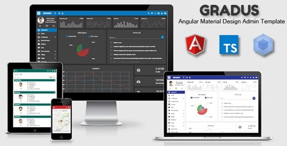 Gradus - Angular 8 Material Design Admin Template - Admin Templates Site Templates