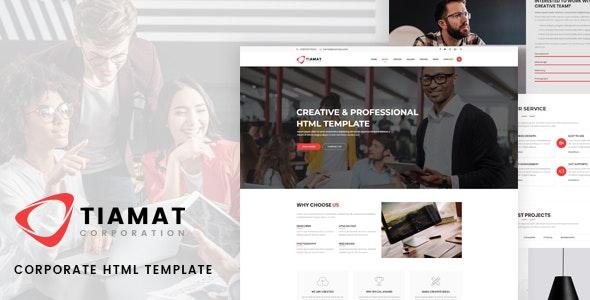 Tiamat - Corporate HTML Template - Corporate Site Templates