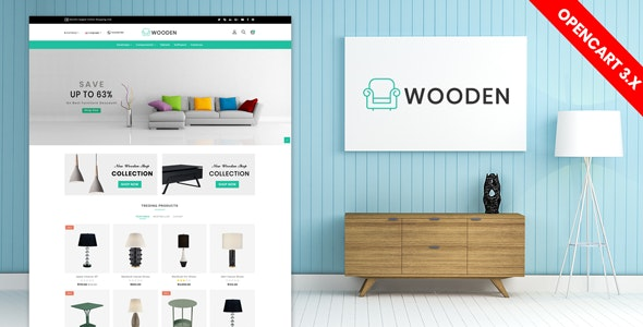wooden furniture opencart 3.x theme (Free Installation) - Shopping OpenCart