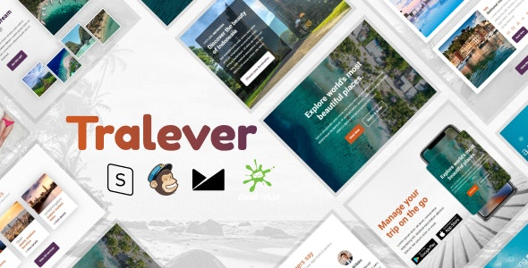 Tralever - Responsive Email Template with MailChimp Editor, StampReady & Online Builder - Newsletters Email Templates