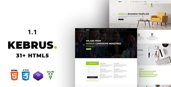 Kebrus | Minimal Multipurpose HTML5 Template - Business Corporate