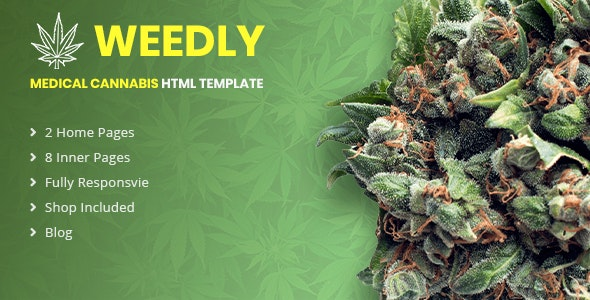 Medical Cannabis HTML5 Template  Weedly by Slidesigma