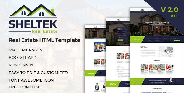 Sheltek - Real Estate HTML Template + RTL - Business Corporate