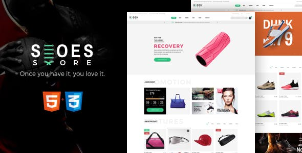 Shoes - eCommerce HTML5 Template