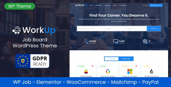 Workup – Job Board WordPress Theme - Directory & Listings Corporate