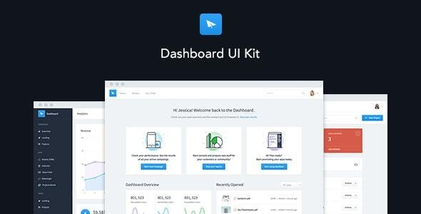 Dashboard UI Kit | Admin Dashboard Template & Web Application Framework - Admin Templates Site Templates