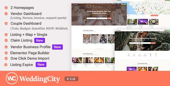 WeddingCity - Directory & Listing WordPress Theme - Directory & Listings Corporate