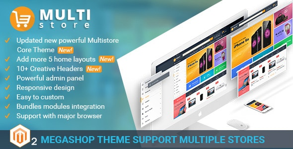 MultiStores - Magento 2 Megashop Theme support Multiple Stores - Shopping Magento