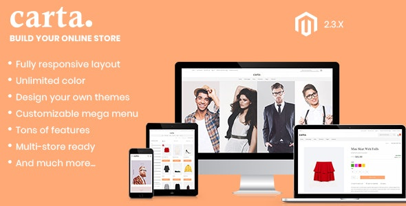Carta - Clean, Responsive Magento 2 Theme - Magento eCommerce