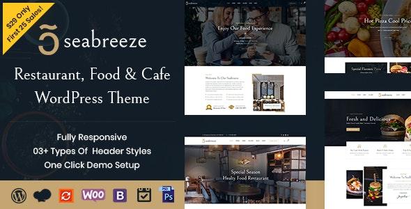 Seabreeze - Restaurant and Cafe WordPress Theme - Restaurants & Cafes Entertainment