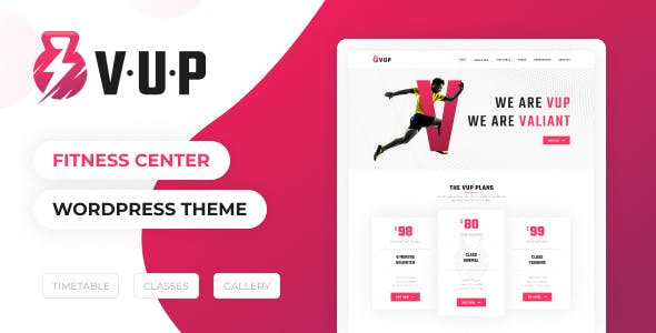 VUP - Fitness Center WordPress Theme