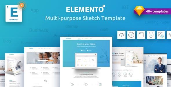 Elemento - Multi-Purpose Sketch Template for Startups