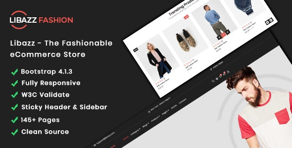 Libazz - The Fashionable eCommerce Store - Site Templates